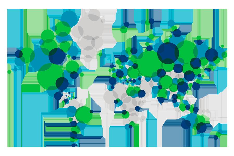 Más de 300 oficinas situadas en más de 100 países